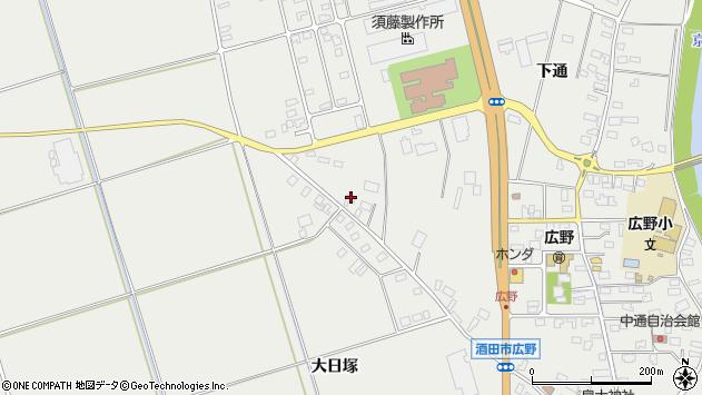 山形県酒田市広野上通208周辺の地図