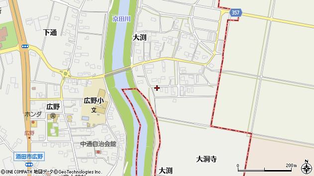 山形県酒田市広野大渕43周辺の地図