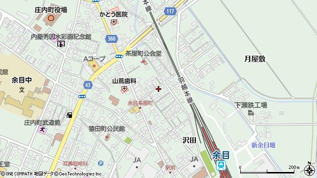 山形県東田川郡庄内町余目沢田98周辺の地図