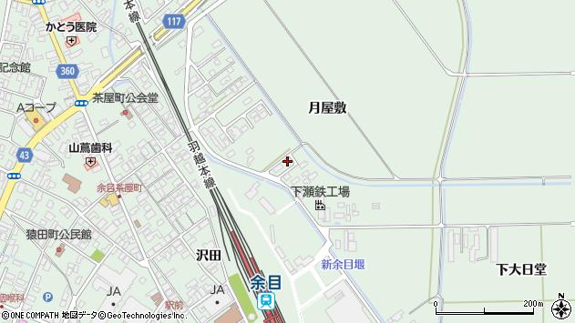 山形県東田川郡庄内町余目月屋敷186周辺の地図