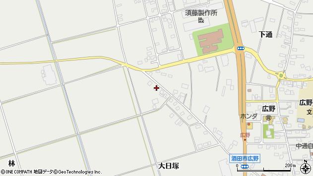 山形県酒田市広野大日塚114周辺の地図