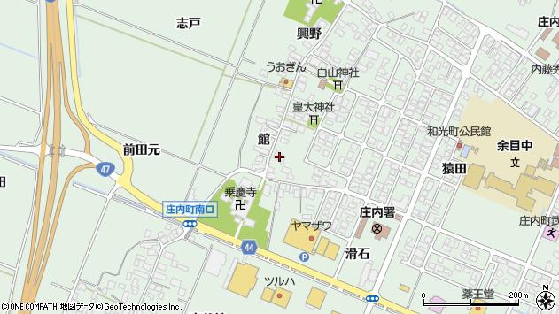 山形県東田川郡庄内町余目館37周辺の地図