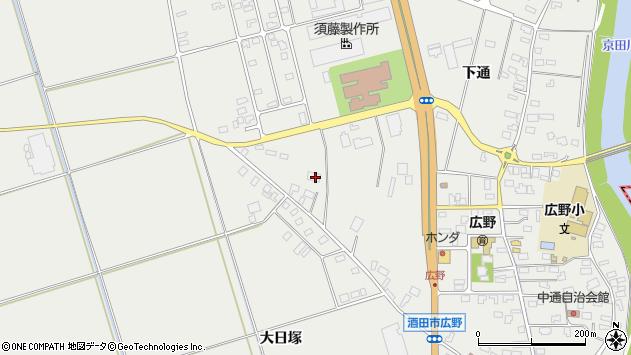山形県酒田市広野上通206周辺の地図