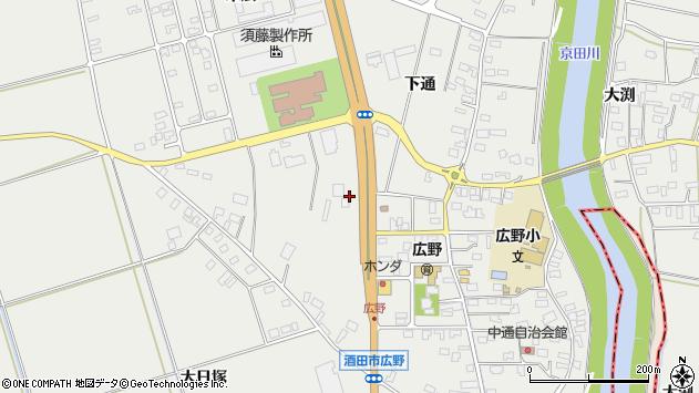 山形県酒田市広野上通178周辺の地図