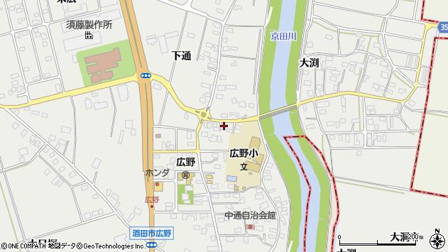 山形県酒田市広野中通98周辺の地図