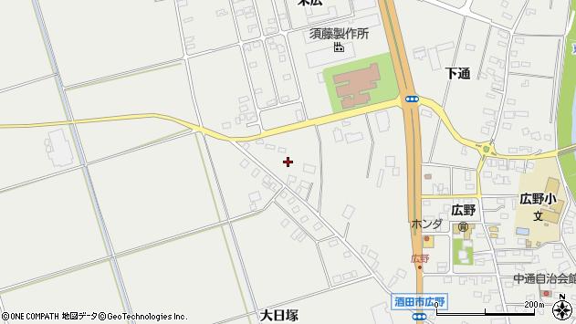 山形県酒田市広野上通214周辺の地図