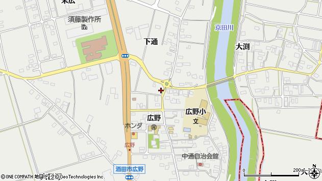 山形県酒田市広野下通96周辺の地図