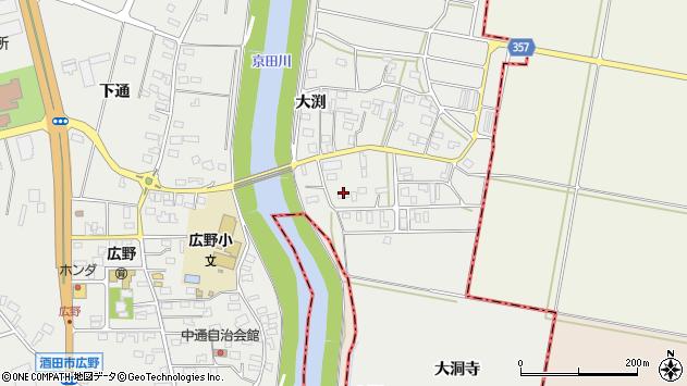 山形県酒田市広野大渕45周辺の地図