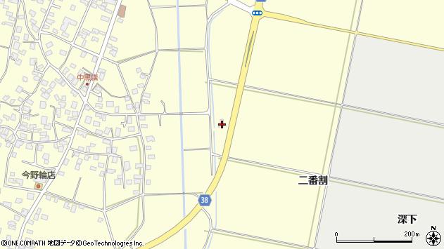 山形県酒田市黒森二番割周辺の地図