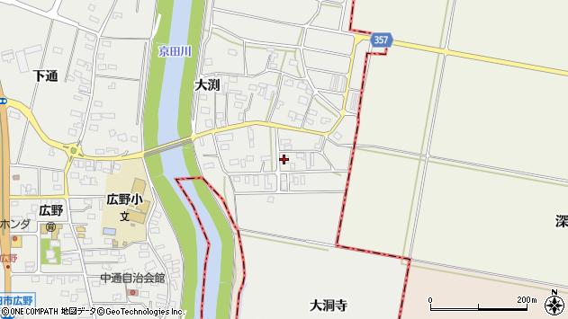 山形県酒田市広野大渕36周辺の地図
