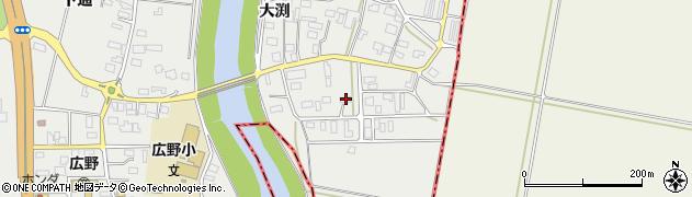 山形県酒田市広野大渕37周辺の地図