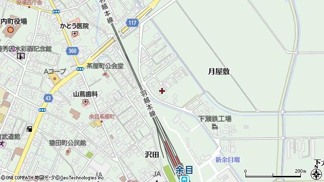 山形県東田川郡庄内町余目月屋敷227周辺の地図