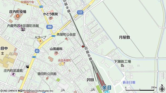 山形県東田川郡庄内町余目月屋敷282周辺の地図