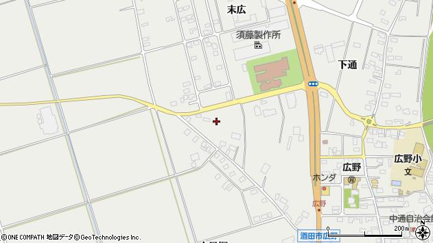 山形県酒田市広野上通213周辺の地図