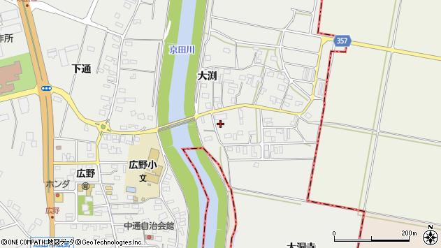 山形県酒田市広野大渕54周辺の地図