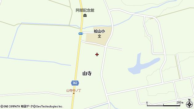山形県酒田市山寺仲町周辺の地図