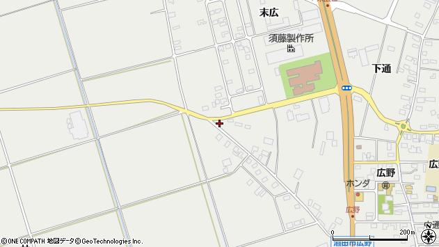山形県酒田市広野上通224周辺の地図