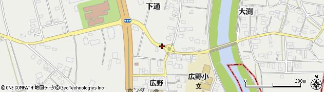 山形県酒田市広野下通98周辺の地図