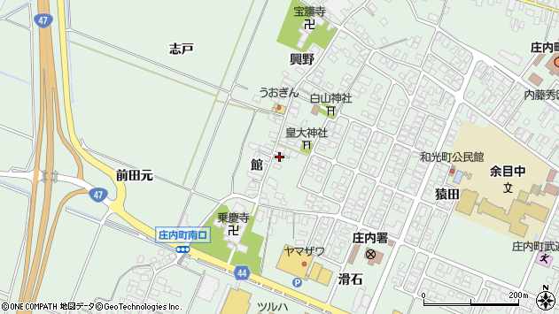 山形県東田川郡庄内町余目館45周辺の地図