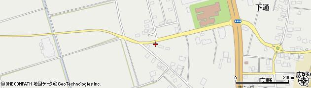 山形県酒田市広野上通222周辺の地図