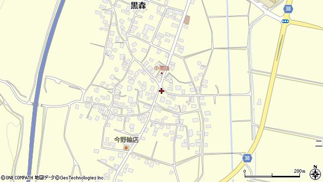 山形県酒田市黒森村中乙周辺の地図