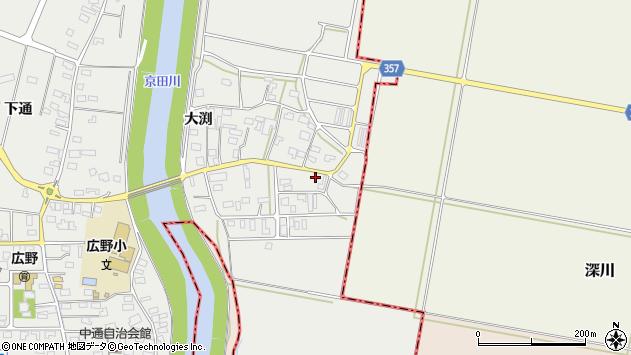 山形県酒田市広野大渕67周辺の地図