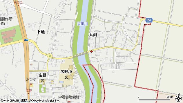 山形県酒田市広野大渕53周辺の地図