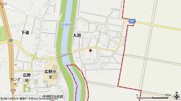 山形県酒田市広野大渕56周辺の地図