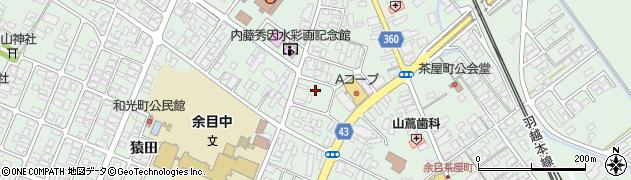 山形県東田川郡庄内町余目三人谷地187周辺の地図