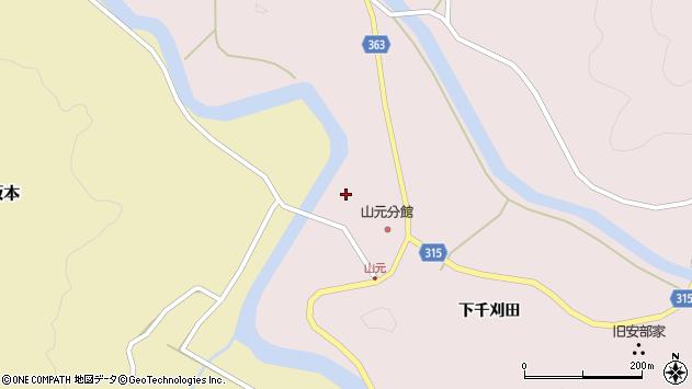 山形県酒田市山元古山神周辺の地図
