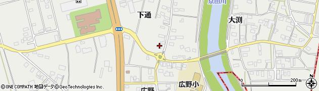 山形県酒田市広野下通100周辺の地図