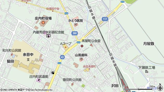 山形県東田川郡庄内町余目町4周辺の地図