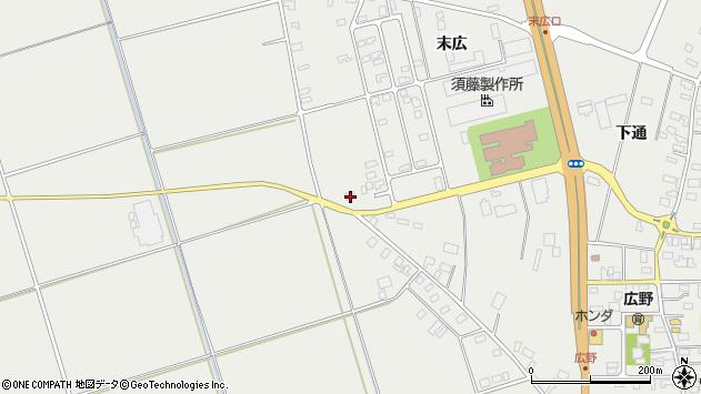 山形県酒田市広野末広33周辺の地図