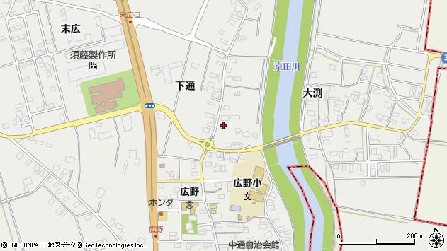 山形県酒田市広野下通84周辺の地図