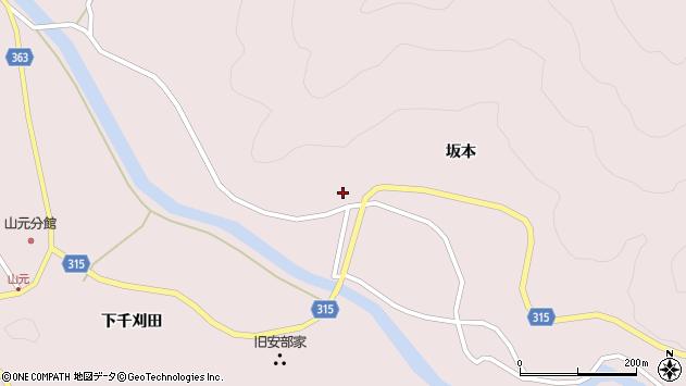 山形県酒田市山元水上周辺の地図
