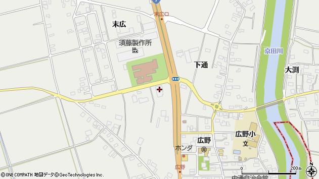 山形県酒田市広野末広104周辺の地図