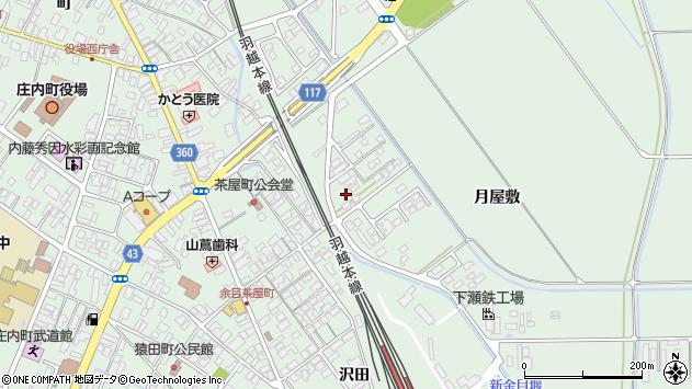 山形県東田川郡庄内町余目月屋敷231周辺の地図
