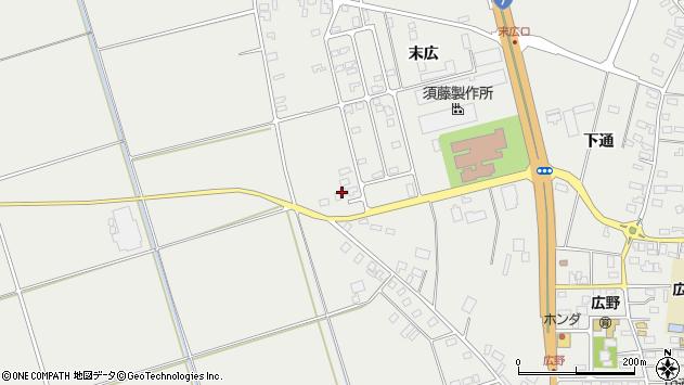 山形県酒田市広野末広37周辺の地図