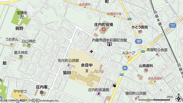 山形県東田川郡庄内町余目三人谷地113周辺の地図