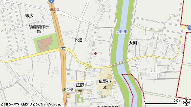 山形県酒田市広野下通83周辺の地図