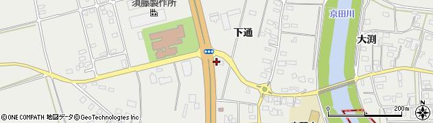 山形県酒田市広野下通213周辺の地図
