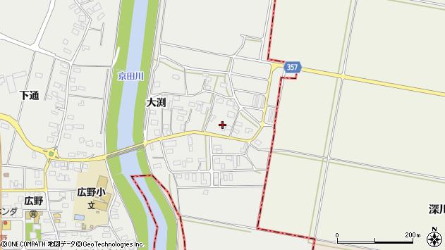 山形県酒田市広野大渕80周辺の地図