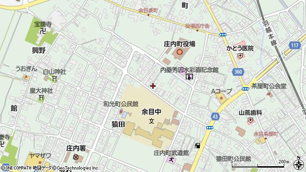 山形県東田川郡庄内町余目三人谷地67周辺の地図