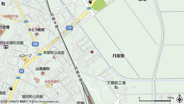 山形県東田川郡庄内町余目月屋敷179周辺の地図