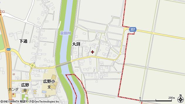 山形県酒田市広野大渕99周辺の地図