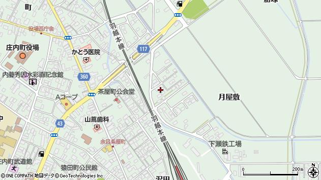 山形県東田川郡庄内町余目月屋敷232周辺の地図