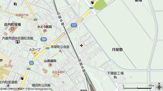 山形県東田川郡庄内町余目月屋敷236周辺の地図