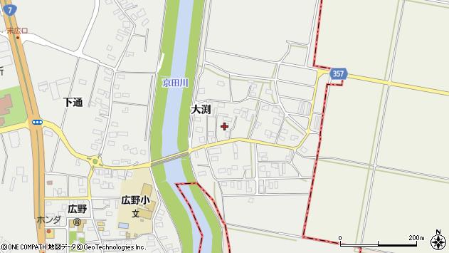 山形県酒田市広野大渕119周辺の地図