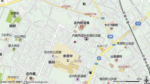 山形県東田川郡庄内町余目三人谷地68周辺の地図