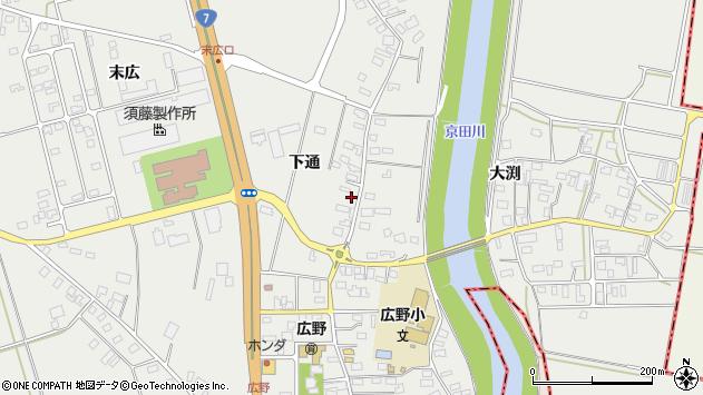 山形県酒田市広野下通108周辺の地図